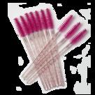 Mascara-Borsteltjes-Glitter-Roze-(25-stuks)